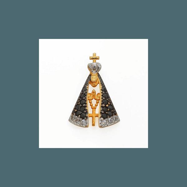 Pingente em Ouro Amarelo Nossa Senhora Aparecida