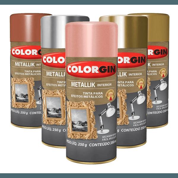 Tinta Spray Colorgin Metalico - Metallik 350ml