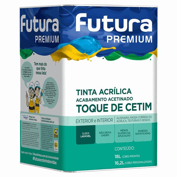 Tinta Acrílica Premium Toque de Cetim Acetinada 18L Branco Neve - Futura