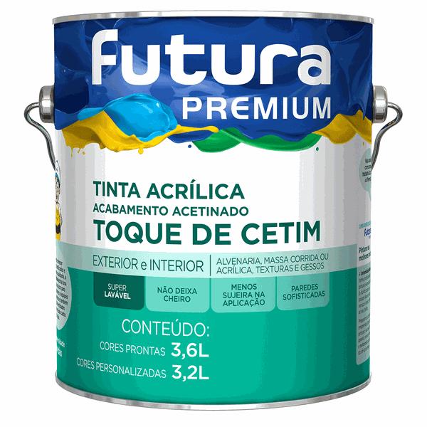 Tinta Acrílica Premium Toque de Cetim Acetinada 3,6L Branco Neve - Futura