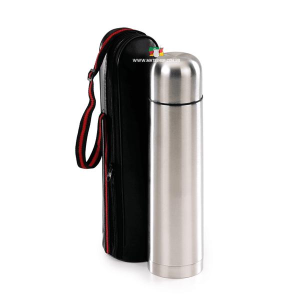 Garrafa Térmica Inox 1 Litro com Capa