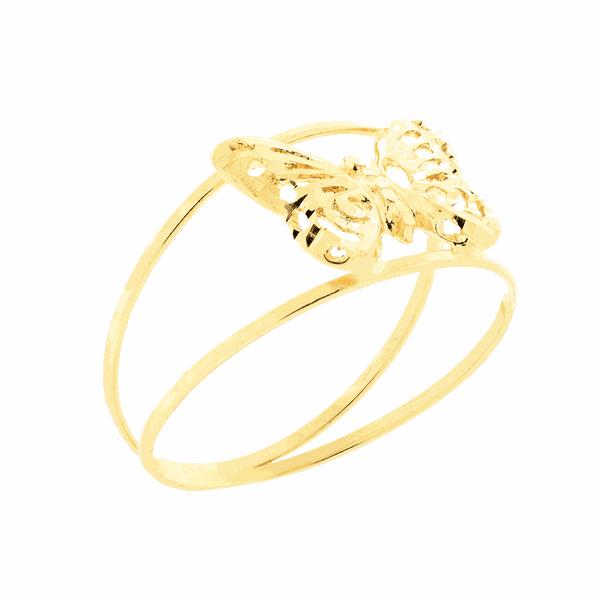 Anel Borboleta de Ouro 18K