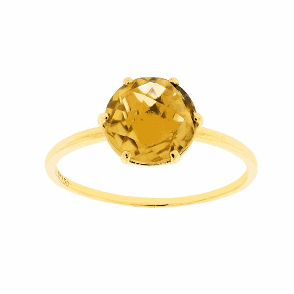 Anel em Ouro 18K com Pedra de Citrino