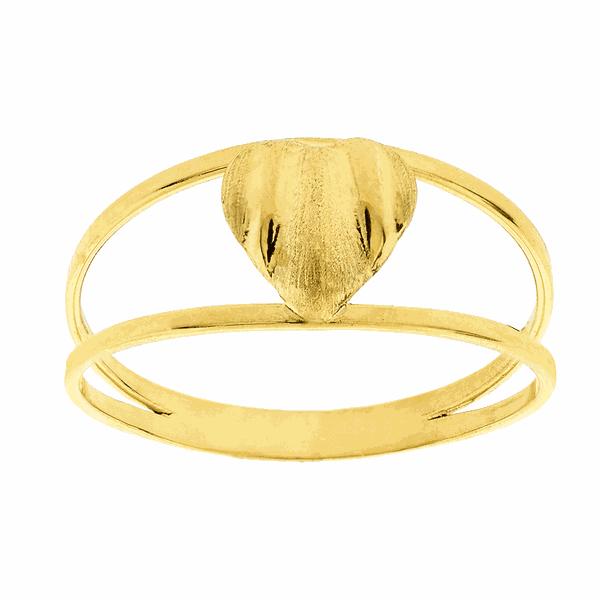 Anel Feminino de Coração em Ouro 18K para Falange