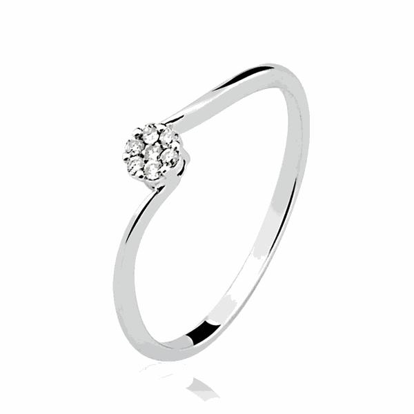 Anel de Diamantes em Ouro Branco 18K