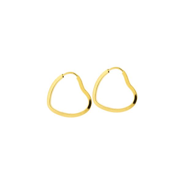 Brinco Argola Coração de Ouro 18K 1,9cm