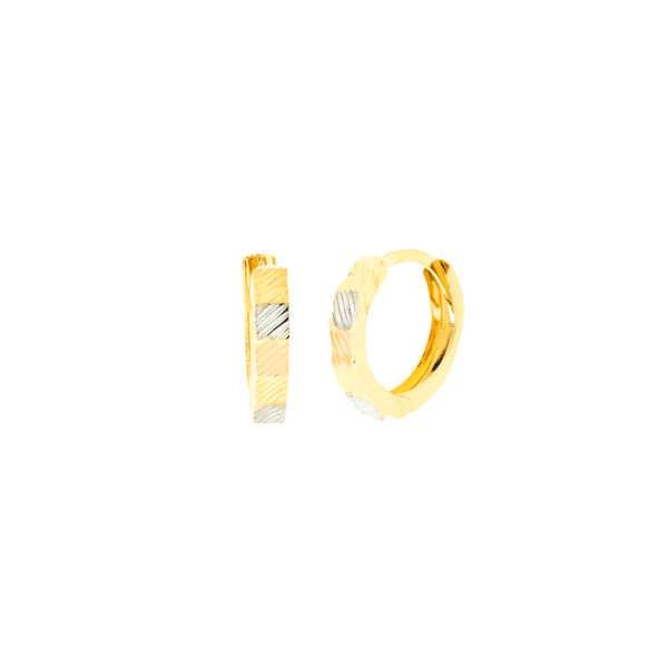 Brinco de Argola Ouro 18K 3 Cores
