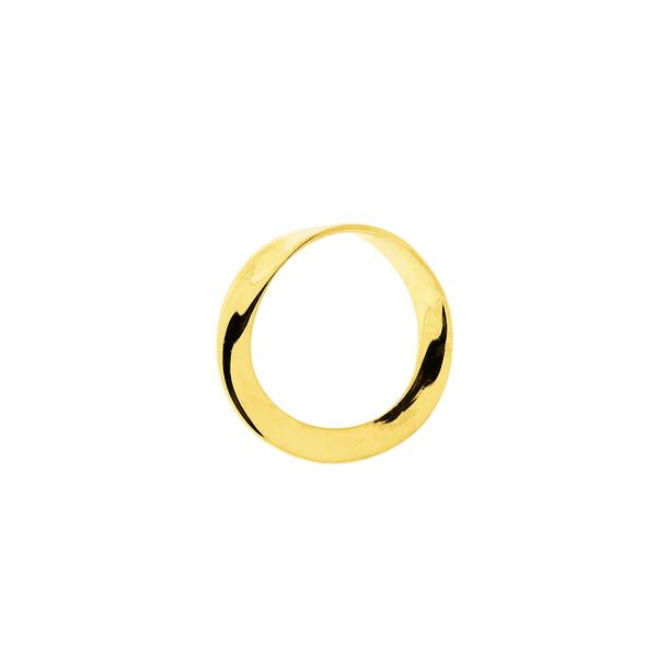 Pingente de Ouro 18K Círculo Torcido