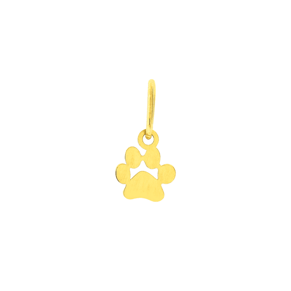 Pingente Pata de Cachorro Ouro 18K Pequeno
