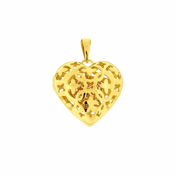 Pingente Relicário de Ouro 18K Coração