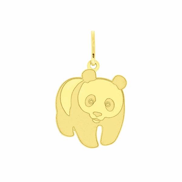 Pingente de Ouro 18K Urso Panda