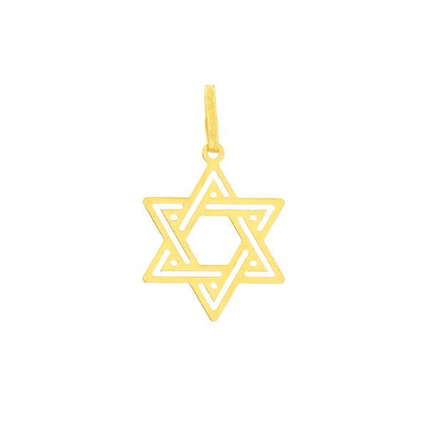 Pingente Estrela de Davi Ouro 18K Pequeno
