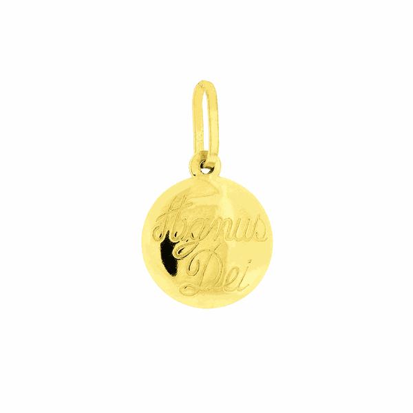 Pingente de Ouro 18K Agnus Dei Fofo