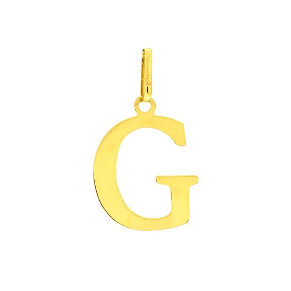 Pingente de Letra G em Ouro 18K