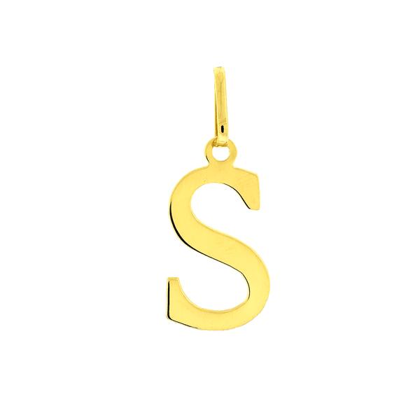 Pingente de Letra S em Ouro 18K