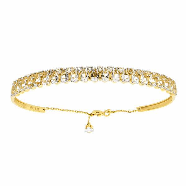 Bracelete de Ouro 18K Cravejado de Topázios