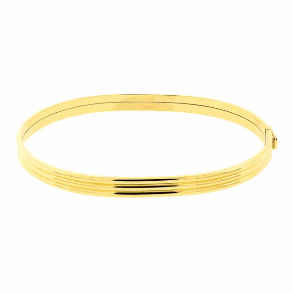 Bracelete de Ouro 18K Trabalhado Largo