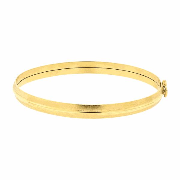 Bracelete de Ouro Amarelo 18K Feminino com Friso