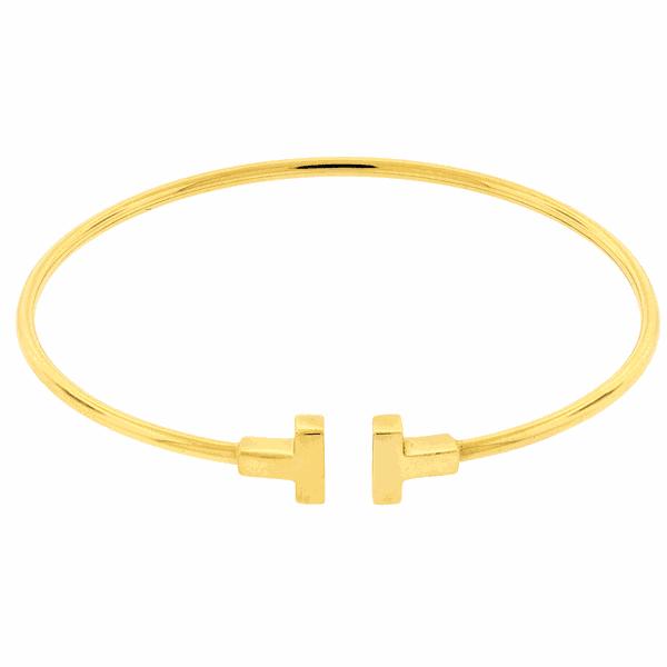 Bracelete T de Ouro 18K
