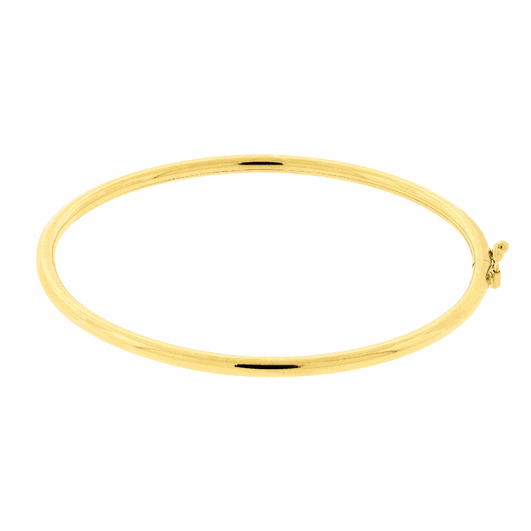 Bracelete de Ouro 18K Fio Redondo
