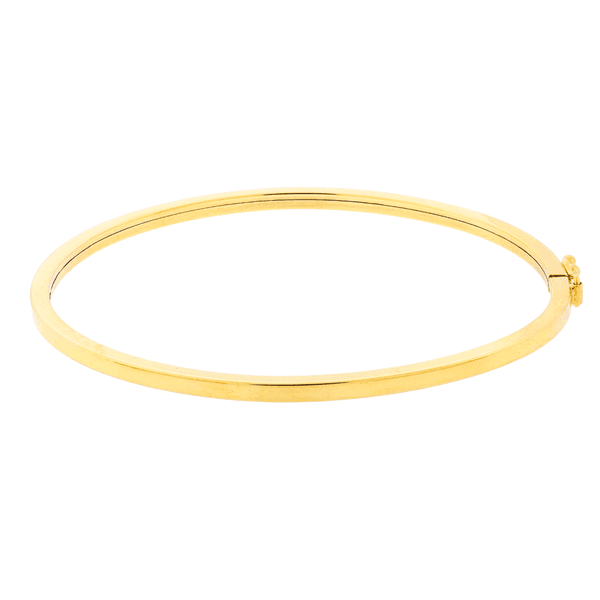 Bracelete de Ouro 18K Fio Quadrado