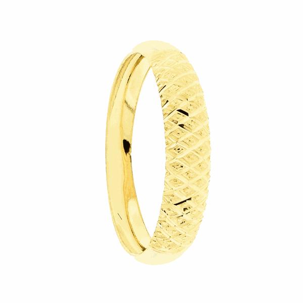 Anel Aparador de Ouro 18K Diamantado Largo