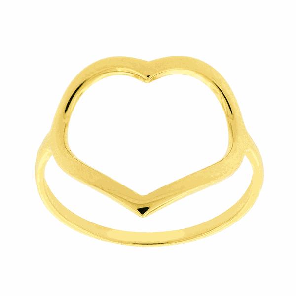 Anel de Coração em Ouro 18K
