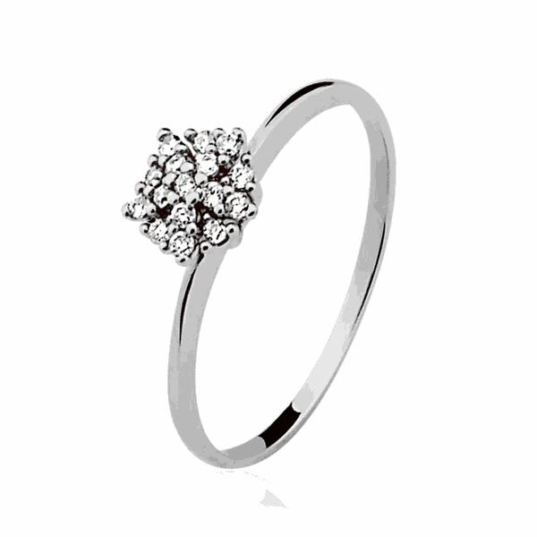 Anel Buquê de Diamantes Médio em Ouro Branco 18K