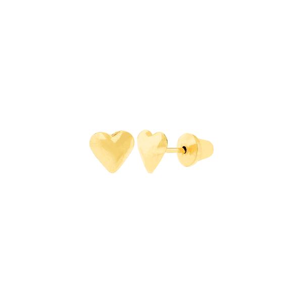 Brinco Infantil de Coração em Ouro 18K