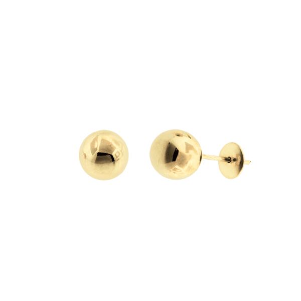 Brinco Bola em Ouro 18K - 6mm