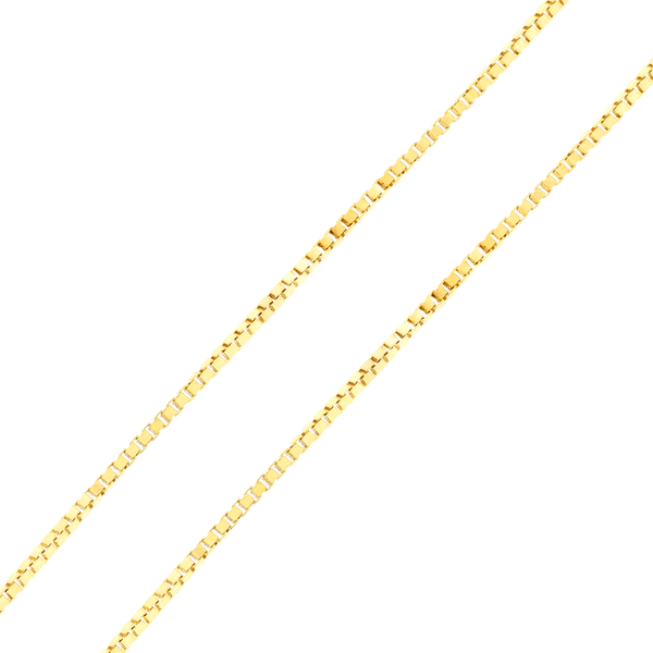 Corrente de Ouro 18K Malha Veneziana de 40cm