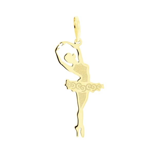 Pingente de Ouro 18K Bailarina Quinta Posição