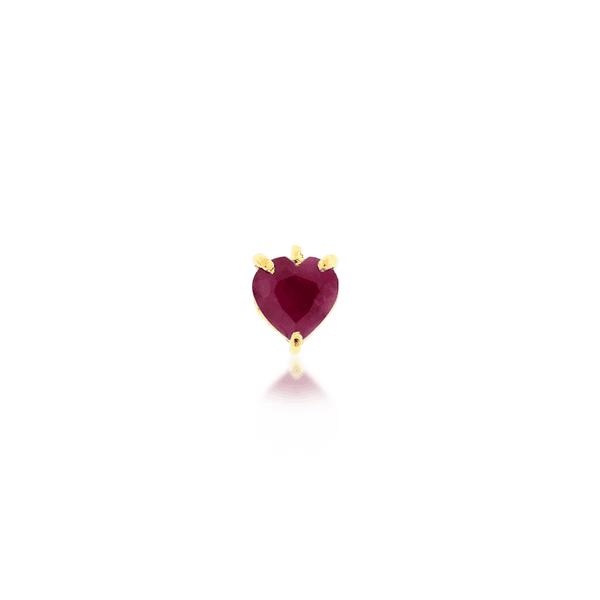 Pingente de Ouro 18K Coração Galeria Rubi