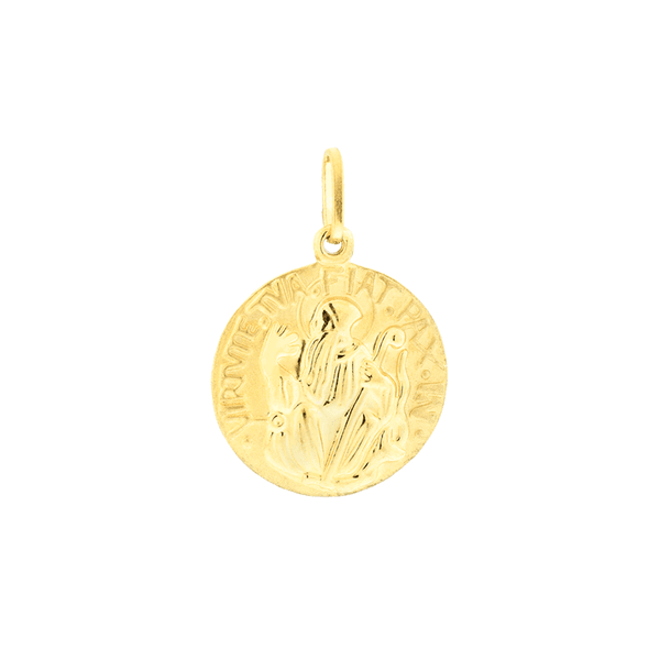 Pingente Medalha de Ouro 18K São Bento Médio