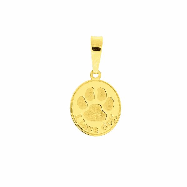 Pingente Pata de Cachorro em Ouro 18K
