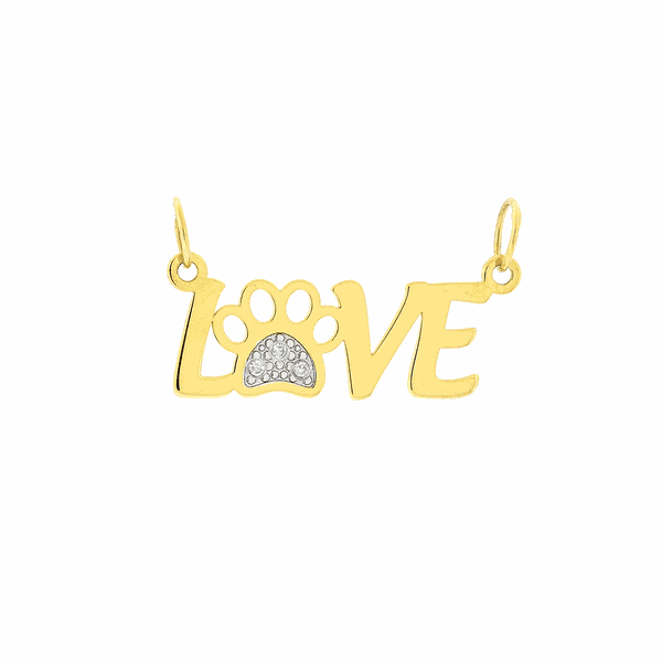 Pingente de Ouro 18K Love Dog Modelo 2