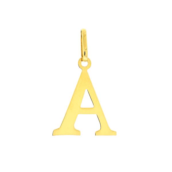 Pingente de Letra A em Ouro 18K