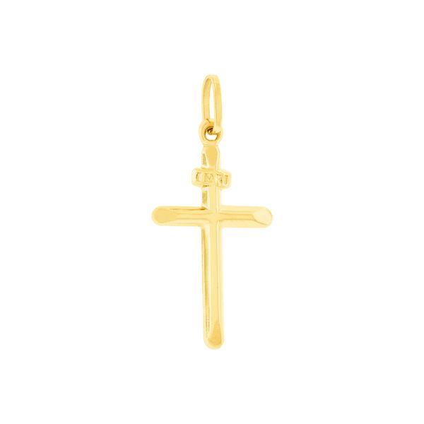 Pingente Cruz Ouro 18K Polida