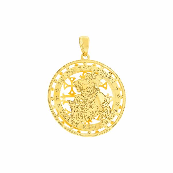 Pingente de São Jorge em Ouro 18K