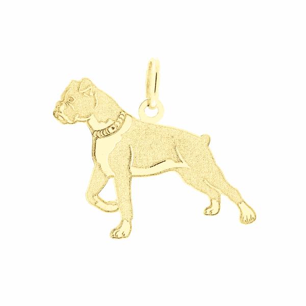 Pingente de Ouro 18K Cachorro Boxer