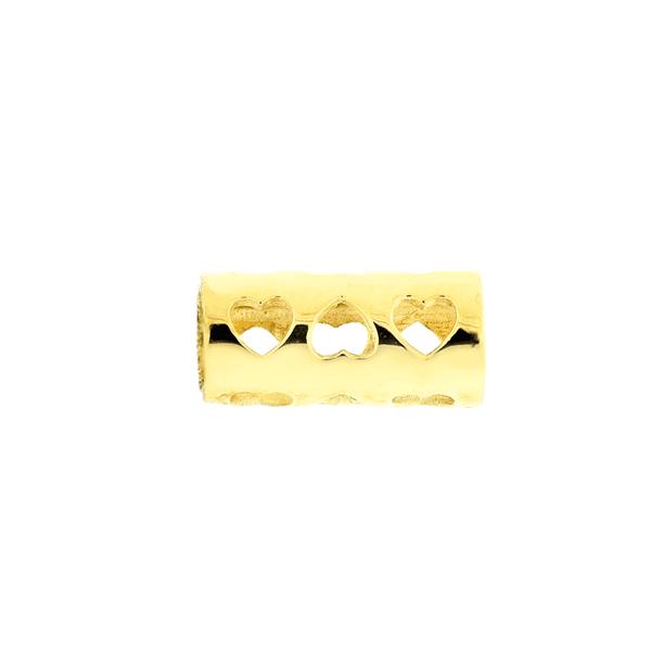 Pingente de Ouro 18K Separador de Pingentes Coração