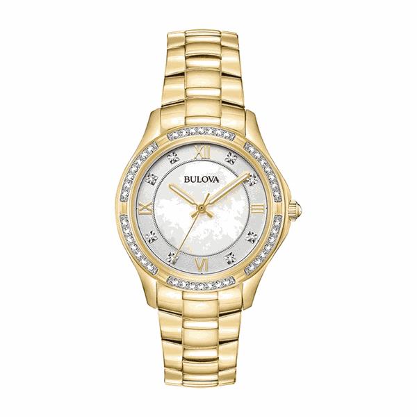 Relógio Bulova Feminino Crystals