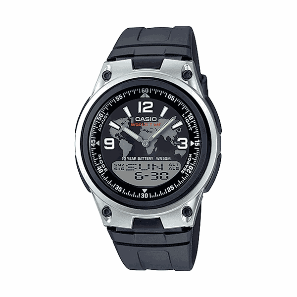 Relógio Casio Digital World Time