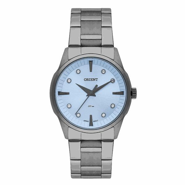 Relógio Orient Feminino Preto com Azul