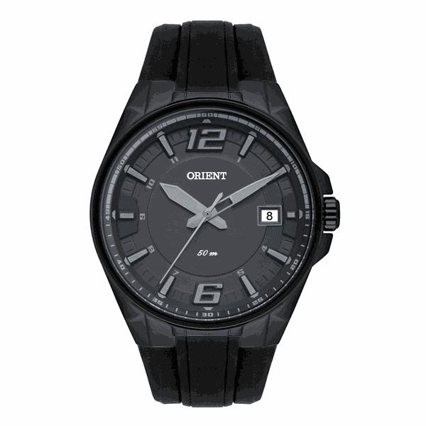 Relógio Orient Masculino Preto Pulseira Silicone