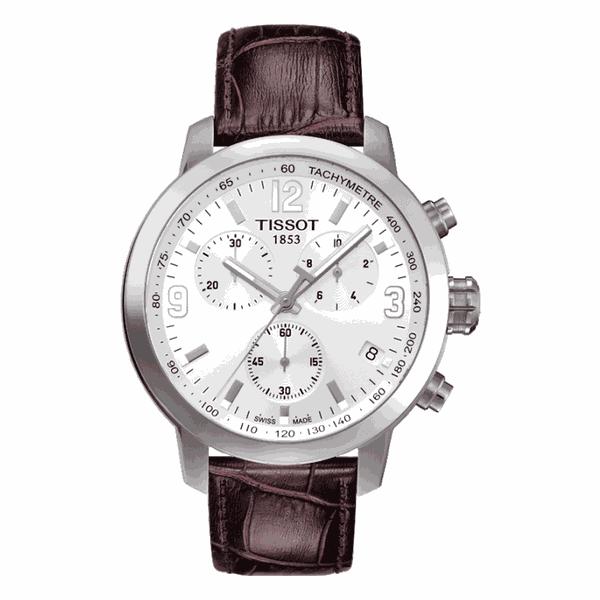 Relógio Tissot Masculino PRC 200 Cronógrafo Couro