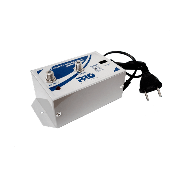 Amplificador de Linha VHF / CATV / UHF HDTV TV Digital 30dB