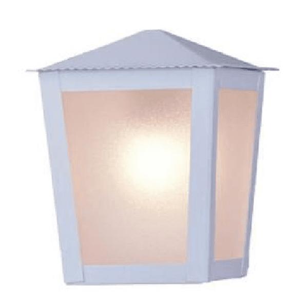 Arandela Colonial Quadrada Branco Ideal Iluminação L-15-B BR