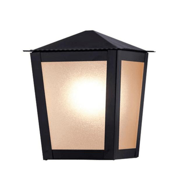 Arandela Colonial Quadrada Preta Ideal L15B