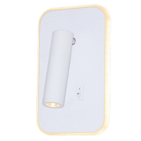 Arandela Luminária Cabeceira de Cama Branca Led 10W Delis DS8187